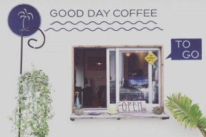 Okinawa's Good Day Coffee opens bright and early, and uses coffee beans from Byron Bay