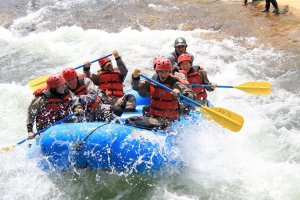 Try river rafting in the adventure plan!