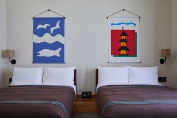 Unique artwork features in each room