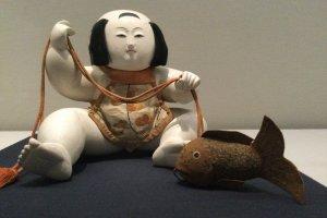 A gosho ningyo, celebratory baby doll