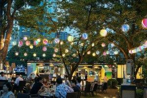 The outdoor Midtown Art Lounge