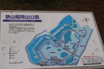 Map of Sayama Inariyama Park