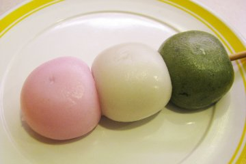 Dango is a traditional dessert made from rice