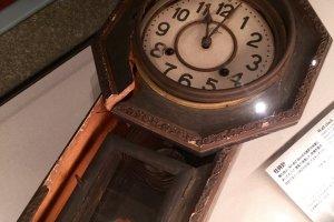 Clock stopped at 11:02 when Nagasaki was bombed