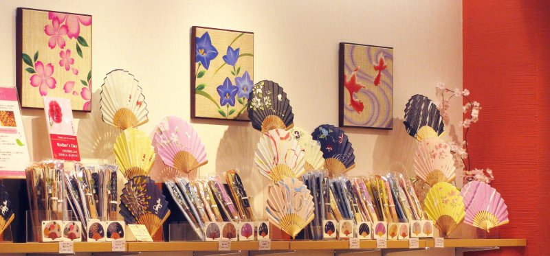 Fans are traditional souvenirs in Japan