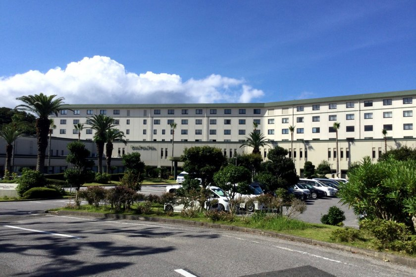 The hotel located on Cape Taibusa