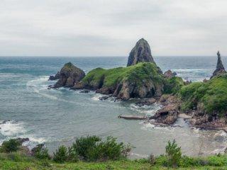 Phong cảnh bãi biển Kuniga từ nơi bắt đầu chuyến đi bộ