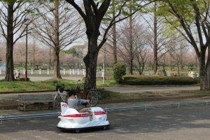 Battery car at Kawagoe Park
