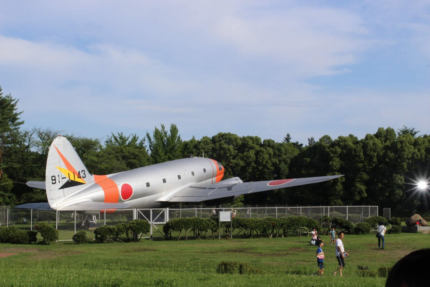 Airplane in the park