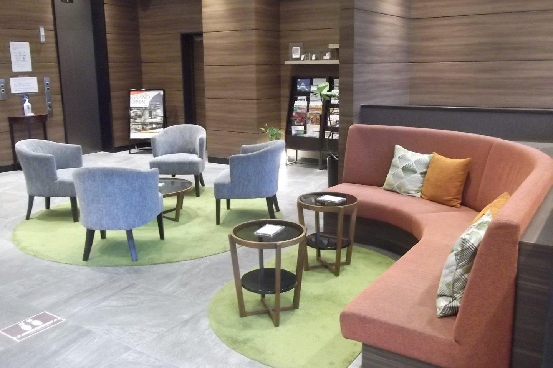 The stylish lobby