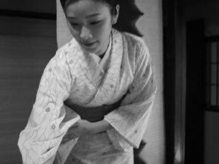 Waitress in kimono