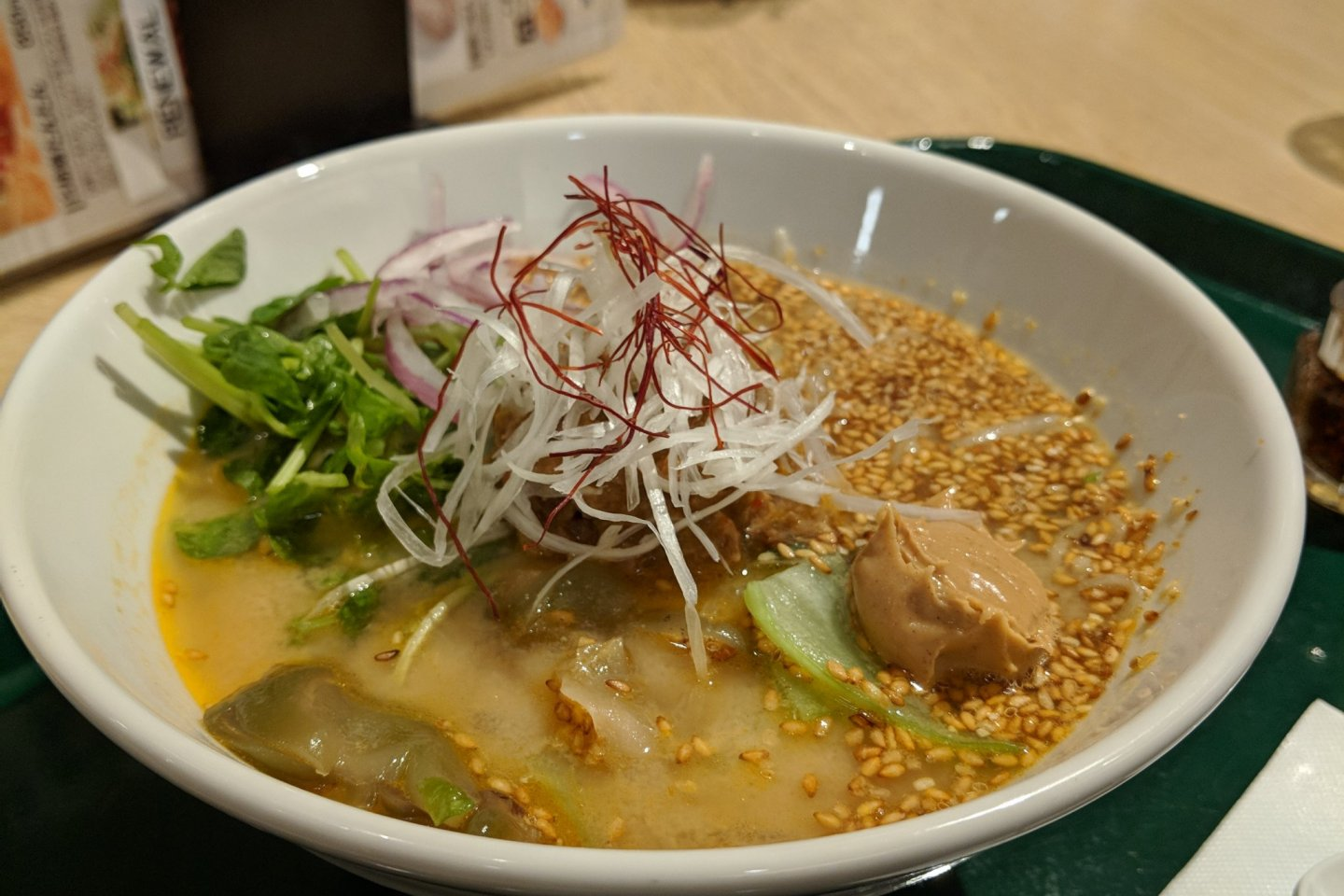 The tantan noodles are the signature dish here