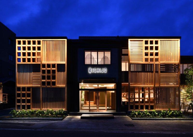 The exterior of the luxury ryokan