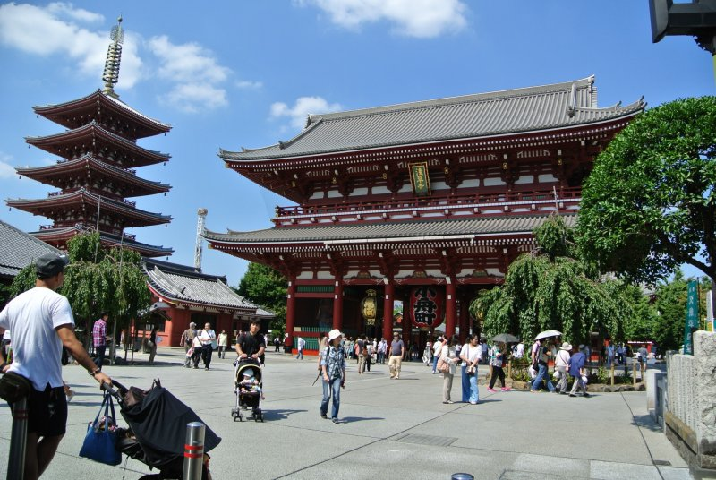 Main Temple and five-story pagoda
