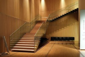 The wooden accents inside exude Kuma's trademark warmth in his designs