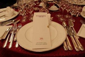 こんな特別なディナーも行事としてあります。登録されたお客様には連絡があります。