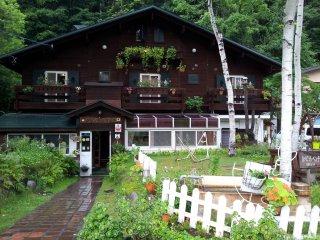 Switzerland style pension (B & B) in Kamikochi...Cute, small & reasonable