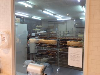 In the morning to the early afternoon the staff can be seen preparing new batches of baked goods