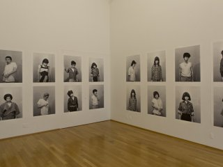 Part of the exhibition consisted of self-portraits