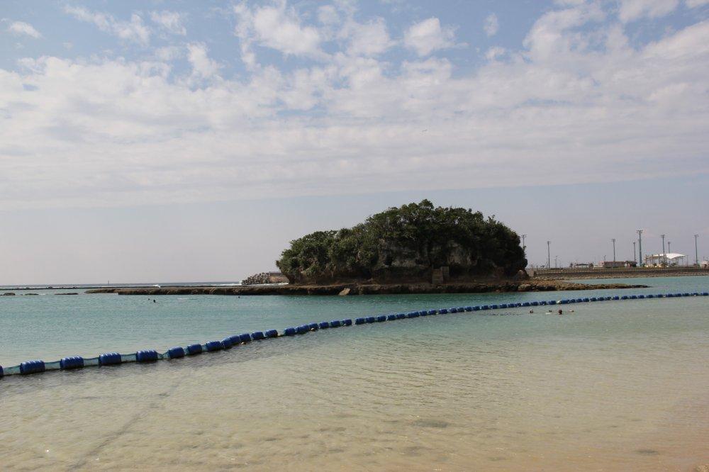 The Kadena Marine Complex has BBQ Pavilions, play areas, a restaurant, a beach, and an island, too
