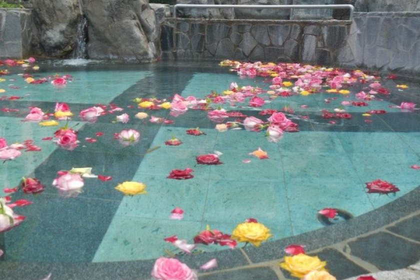 The rose hot spring - my favorite pool!