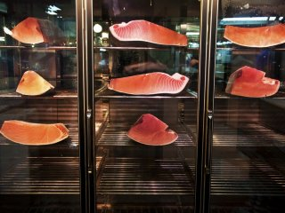 Here are some already cut pieces of tuna