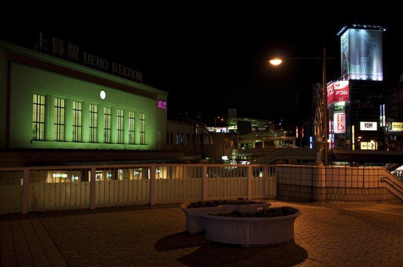 JR 우에노 역의 야경