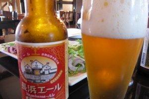 長浜の地ビール「長浜エール」。十分なコク。旨い。