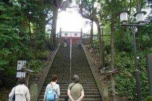 Stone steps to get to the Toshogu Shrine