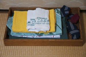 Bath towels and yukata