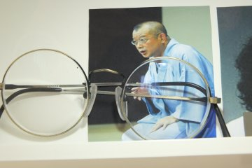 A famous comedian and Rakugo entertainer's glasses from Sabae