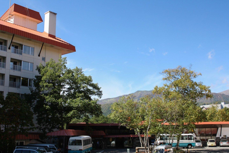 Nakazawa Village overlooking the mountains