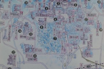 Map of Omiwa shrine