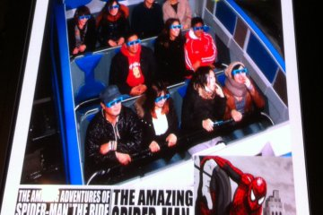 """Don't forget to """"Say Cheese!"""" on The Amazing Spider Man ride"""