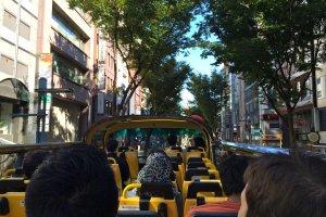 Cruising down the fashionable Dogenzaka street in Shibuya