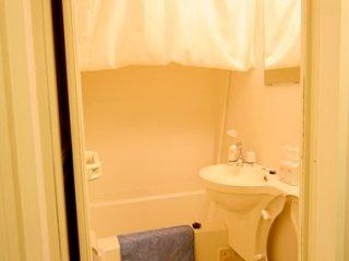 很典型那種倒模浴室,只能站1人,但十分乾淨。