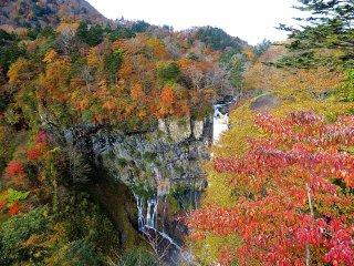 Numerous small falls near the main falls