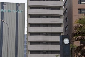 View of the hotel from Saga station