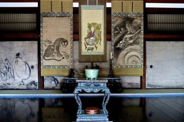 Hojo Hall - the center painting is of Priest Yousai