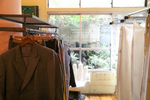 Fitting rooms with a Japanese garden