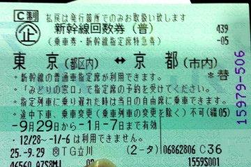 <p>Los vouchers de Tokio a Kioto por Shinkansen son v&aacute;lidos por tres meses excluyendo periodos de temporada alta.</p>