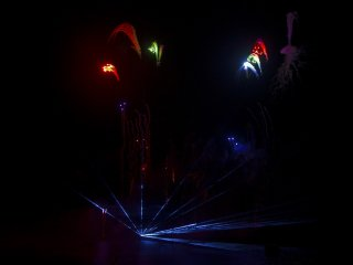 Fireworks and laser light show work well together.