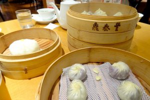 XiaoLongBao are buns traditionally steamed in bamboo baskets