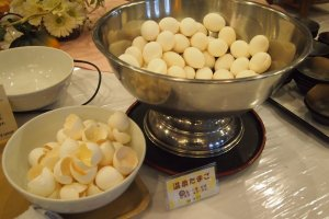 "Try this ""onsen egg"" at the buffet breakfast!"