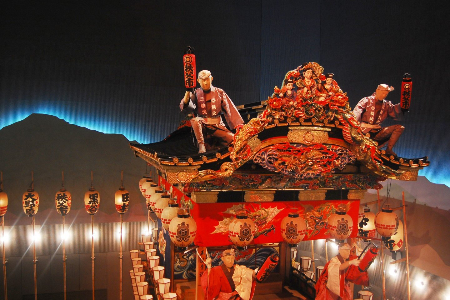 One of the float or Yatai with its diorama