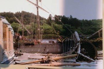 <p>Una foto del museo detalla el gran da&ntilde;o ocasionado por el tsunami al barco. Despu&eacute;s de dos a&ntilde;os de restauraci&oacute;n el barco est&aacute; abierto al p&uacute;blico de nuevo.</p>