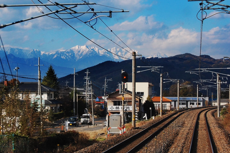 Japan\'s alpine views on the way to Matsumoto