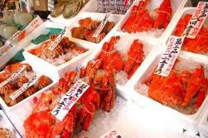 The fresh and huge crabs that Hokkaido is so famous for.