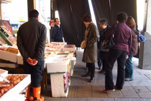 Bargaining is acceptable at Nijo Fish Market so go ahead, get your money's worth!
