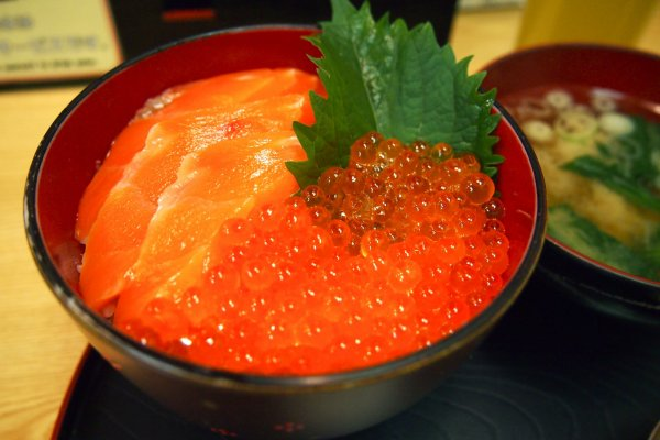 Mini Salmon Ikura Don from Ohiso: the portion was generous for a mini don and oh so fresh!